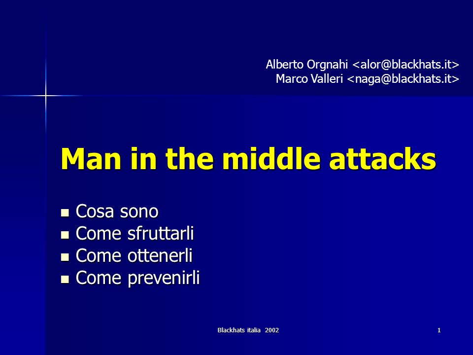Blackhats italia 200282 Attacchi in remoto (1) DNS poisoning - introduzione (1) Quando il DNS riceve una richiesta ci possono essere 3 possibilita : 1.Il DNS e autoritativo per il dominio a cui il nome richiesto appartiene.