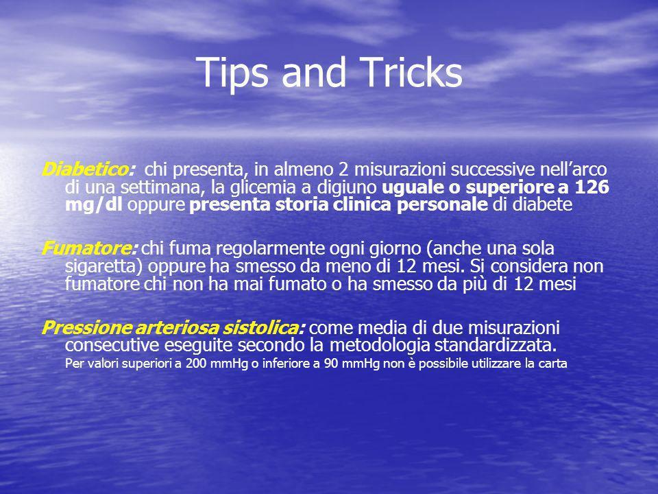 Tips and Tricks Diabetico: chi presenta, in almeno 2 misurazioni successive nellarco di una settimana, la glicemia a digiuno uguale o superiore a 126