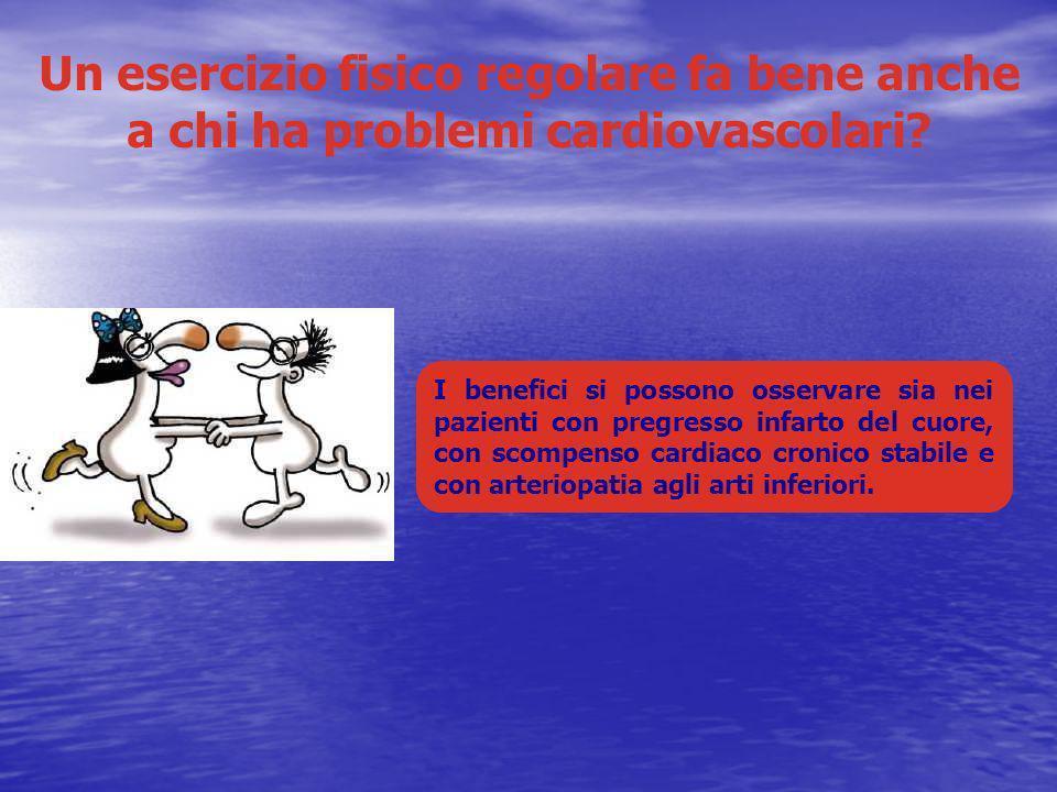 Un esercizio fisico regolare fa bene anche a chi ha problemi cardiovascolari? I benefici si possono osservare sia nei pazienti con pregresso infarto d