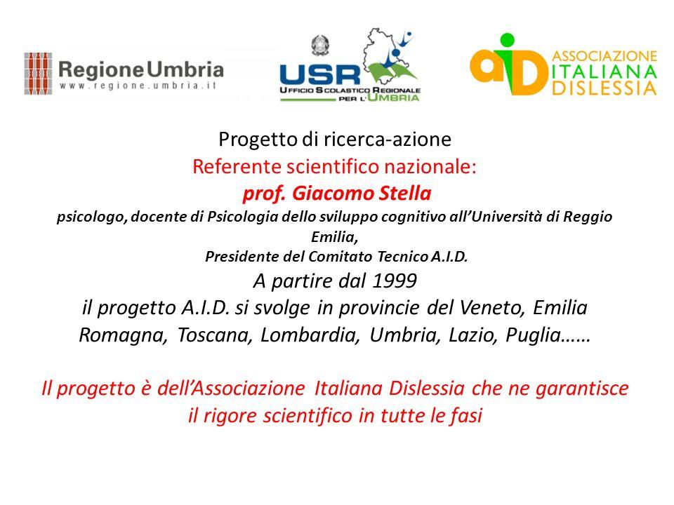 Progetto di ricerca-azione Referente scientifico nazionale: prof.