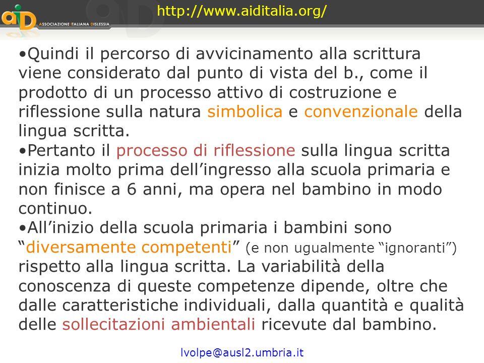 http://www.aiditalia.org/ attiva interazioneQuindi è importante indagare le prototeorie, le ipotesi e le idee che il bambino mette alla prova in quest