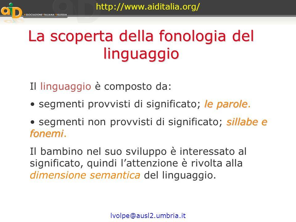 http://www.aiditalia.org/ lvolpe@ausl2.umbria.it 3. Periodo della fonetizzazione Fase alfabetica: Il bambino scrive rappresentando con ogni segno i fo