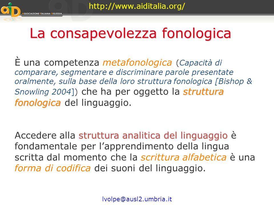 http://www.aiditalia.org/ lvolpe@ausl2.umbria.it Da una attività linguistica primaria ad una attività linguistica secondaria metalinguistica passaggio