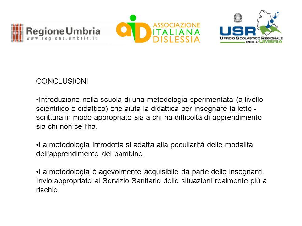 La scuola per tutti in Umbria ANNO SCOLASTICO ALUNNI DEL CAMPIONE Numero Prima Prova Gennaio Alunni a rischio % Seconda Prova maggio Alunni a rischio