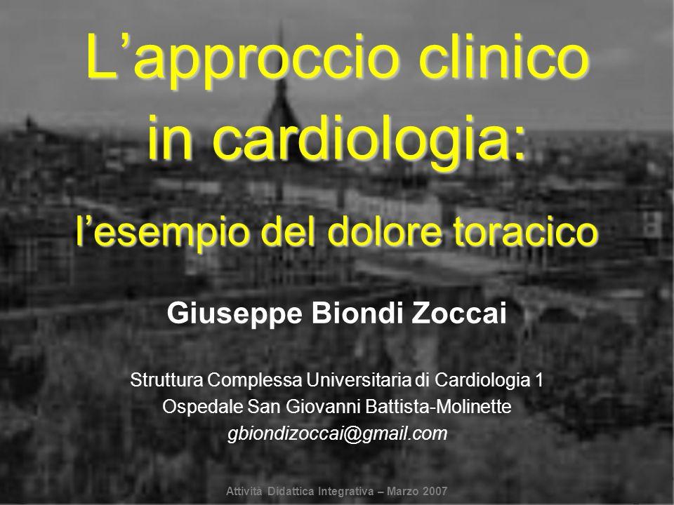 Giuseppe Biondi Zoccai Struttura Complessa Universitaria di Cardiologia 1 Ospedale San Giovanni Battista-Molinette gbiondizoccai@gmail.com Lapproccio