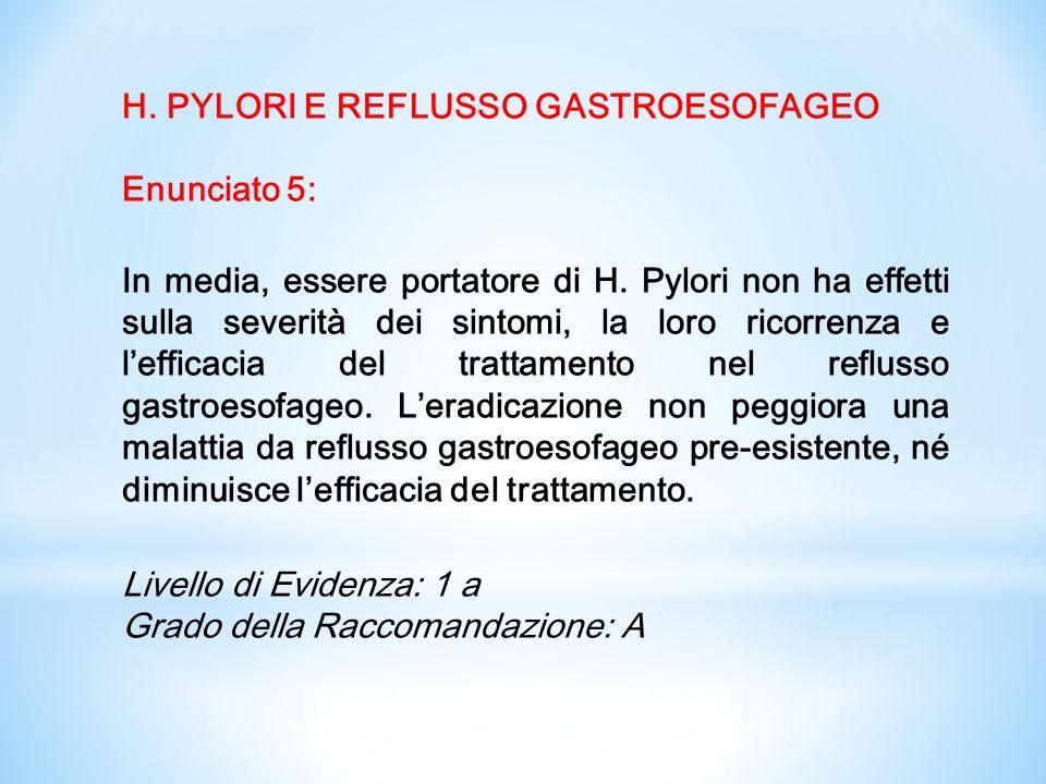 (1) Se H Pylori è coltivato da prelievi di biopsie gastriche, i test di suscettibilità agli antibiotico dovrebbero comprendere metronidazolo.
