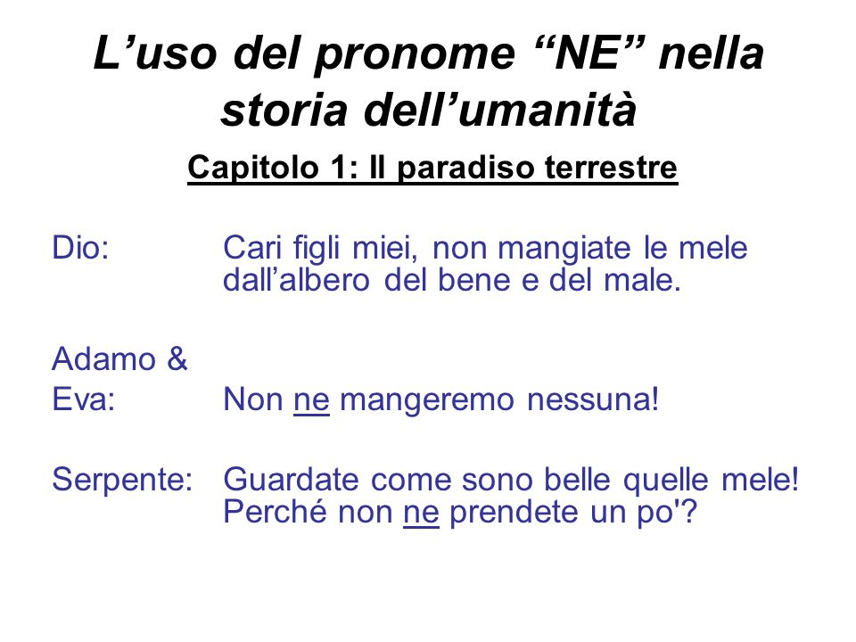 Esercizi per NE Take turns with your partner asking questions from lists 1 and 2.