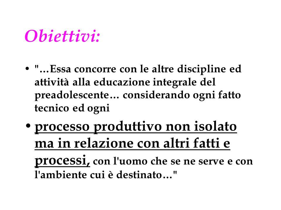 Obiettivi: