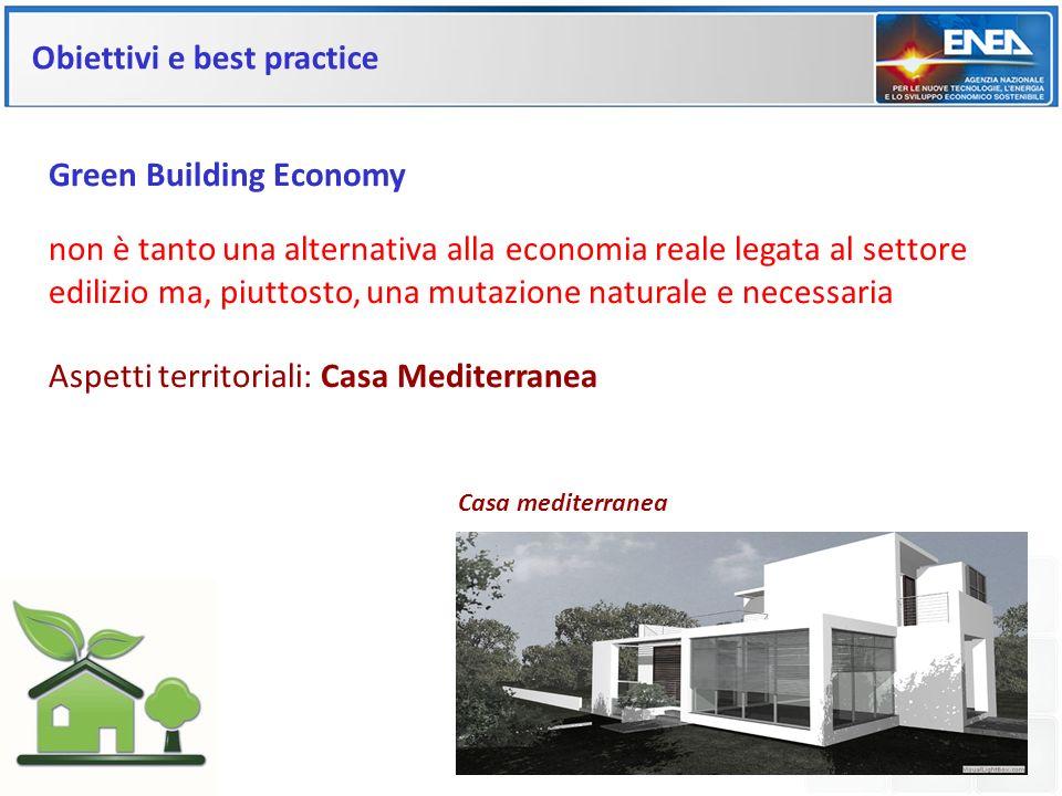 Obiettivi e best practice Green Building Economy non è tanto una alternativa alla economia reale legata al settore edilizio ma, piuttosto, una mutazio