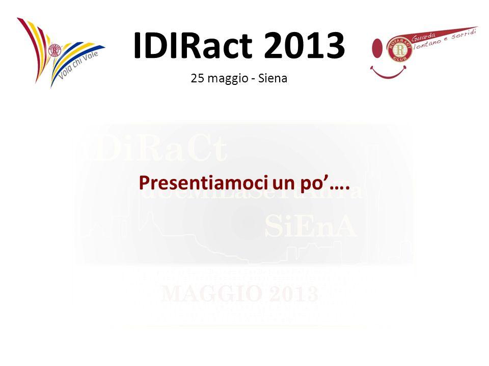 IDIRact 2013 25 maggio - Siena LA CIRCOLARE E consigliabile che la circolare venga spedita attorno al 20 del mese precedente a quello di riferimento.