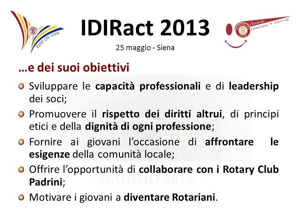 IDIRact 2013 25 maggio - Siena Il Club Il club è composto dai soci che svolgono le proprie attività sotto la guida del Presidente ed in seguito allapprovazione da parte del Consiglio Direttivo.