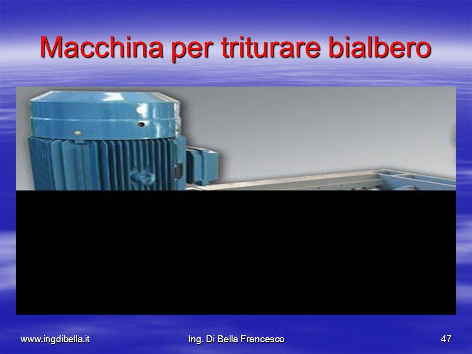 www.ingdibella.itIng. Di Bella Francesco47 Macchina per triturare bialbero