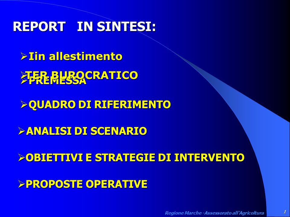 Strategie di intervento 38 Regione Marche -Assessorato allAgricoltura Sincronizzare e comporre le diverse azioniBSE Certificazione produzioni Organizzazione servizi zootecnici
