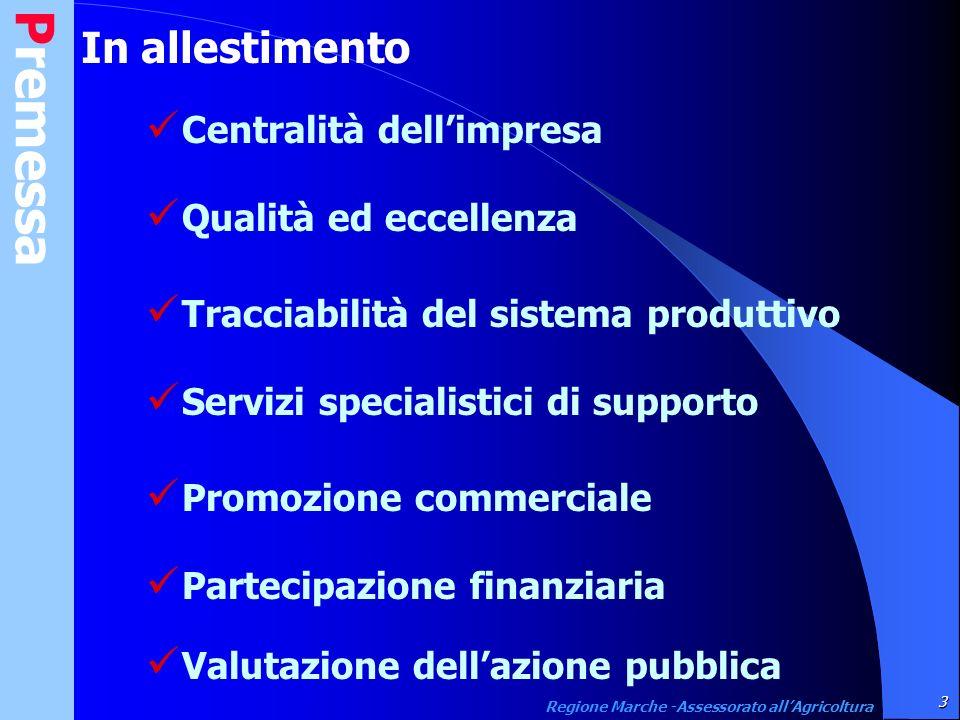 Certificazione produzione 40 Regione Marche -Assessorato allAgricoltura Garantire il consumatore Tracciabilità Disciplinare di produzione