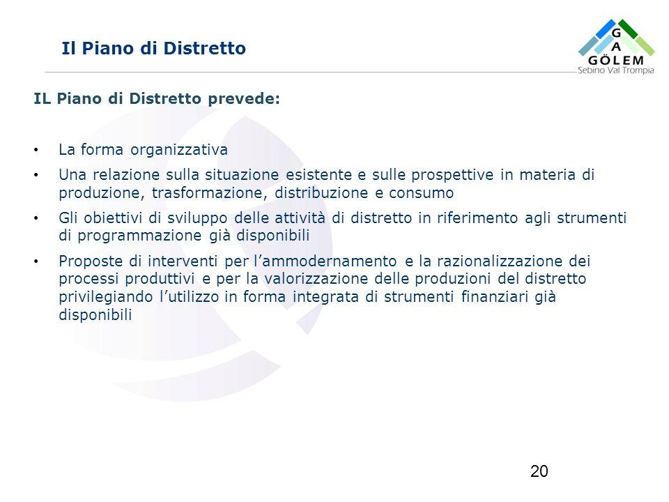 www.eurca.com 20 Il Piano di Distretto IL Piano di Distretto prevede: La forma organizzativa Una relazione sulla situazione esistente e sulle prospett