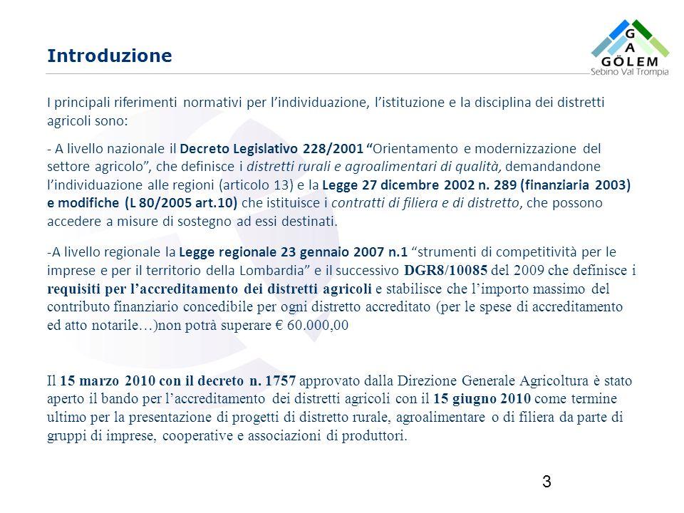 www.eurca.com 3 I principali riferimenti normativi per lindividuazione, listituzione e la disciplina dei distretti agricoli sono: - A livello nazional