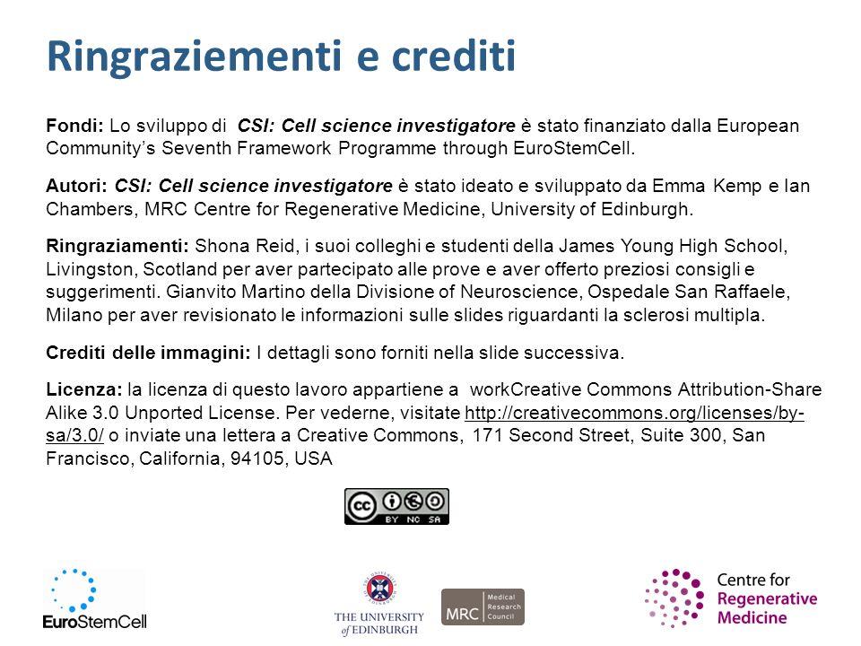 Fondi: Lo sviluppo di CSI: Cell science investigatore è stato finanziato dalla European Communitys Seventh Framework Programme through EuroStemCell. A
