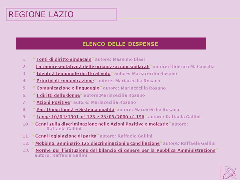 ELENCO DELLE DISPENSE 1. Fonti di diritto sindacale autore: Massimo BlasiFonti di diritto sindacale 2. La rappresentatività delle organizzazioni sinda