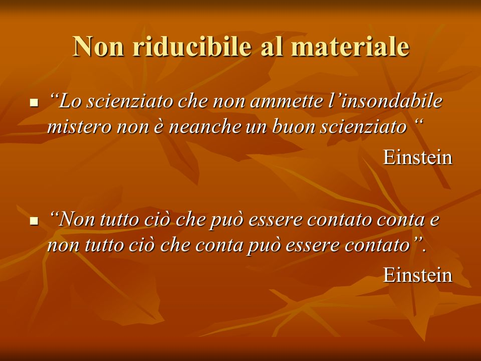 3) Lipotesi E il tentativo di ricostruire lessere esistente mediante il processo intellettuale.