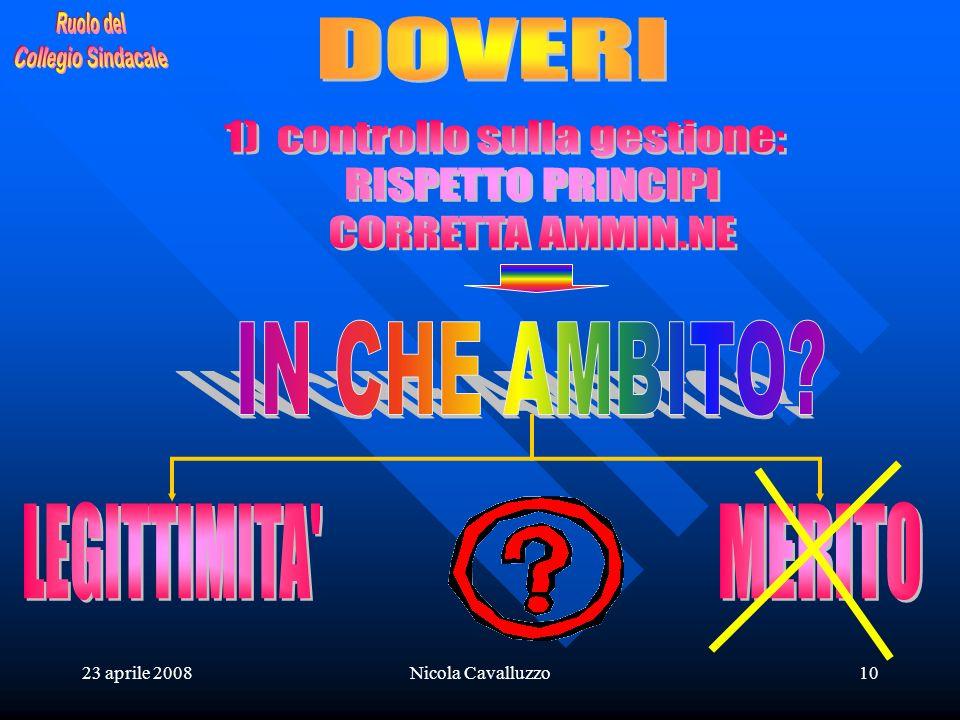 23 aprile 2008Nicola Cavalluzzo10