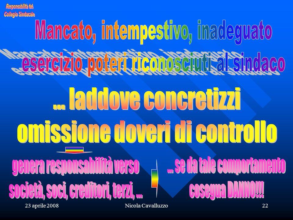 23 aprile 2008Nicola Cavalluzzo22