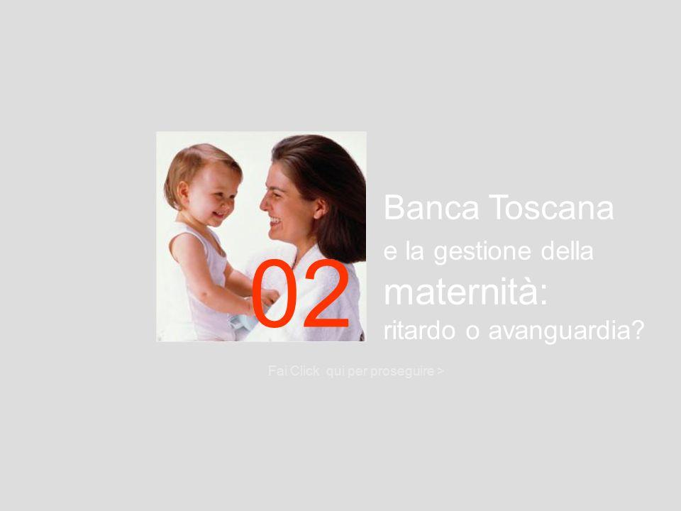 Banca Toscana e la gestione della maternità: ritardo o avanguardia? Fai Click qui per proseguire > 02