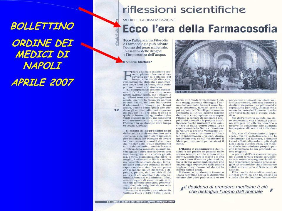 12 BOLLETTINO ORDINE DEI MEDICI DI NAPOLI APRILE 2007