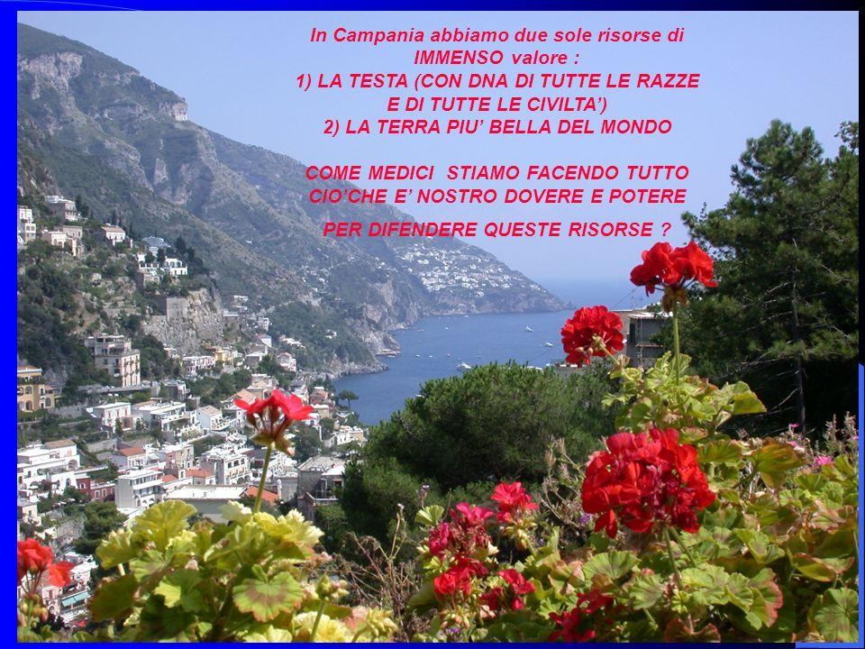 33 In Campania abbiamo due sole risorse di IMMENSO valore : 1) LA TESTA (CON DNA DI TUTTE LE RAZZE E DI TUTTE LE CIVILTA) 2) LA TERRA PIU BELLA DEL MO