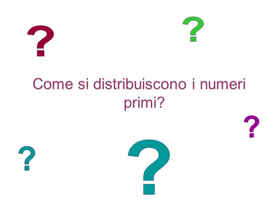 Come si distribuiscono i numeri primi?