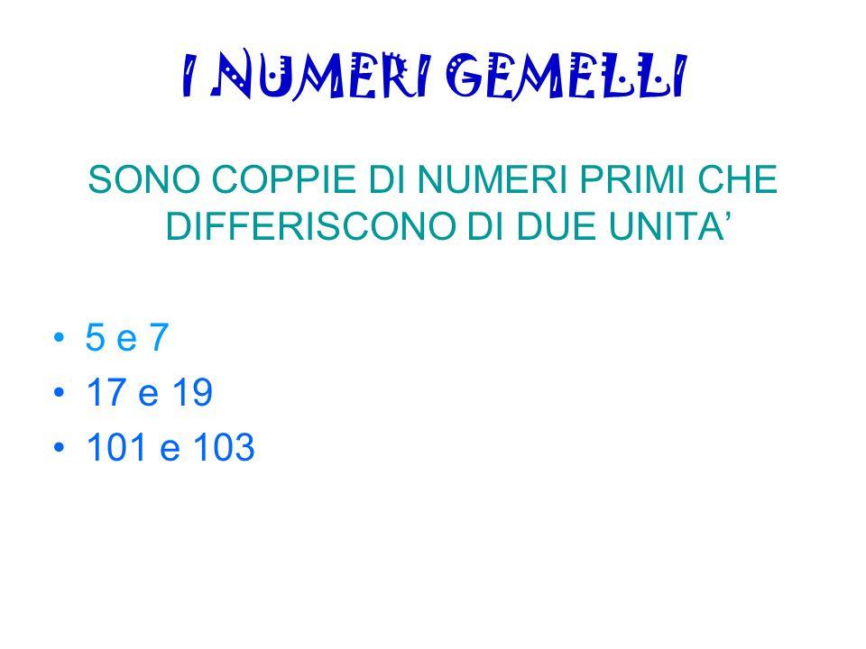 Congettura di Goldbach Goldbach (1690 - 1764) enunciò la seguente congettura: Ogni numero pari può essere scritto sotto forma di somma di numeri primi Infatti ogni n>2 pari si può esprimere come la somma di due primi: 4=2+2 6=3+3 8=5+3 10=5+5 100=3+97