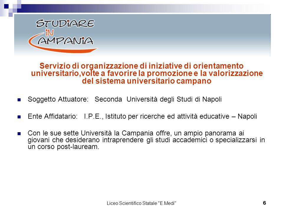 6 Servizio di organizzazione di iniziative di orientamento universitario,volte a favorire la promozione e la valorizzazione del sistema universitario