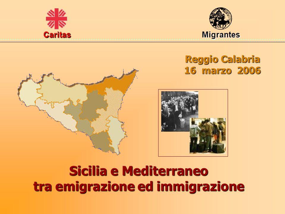 Reggio Calabria 16 marzo 2006 Sicilia e Mediterraneo tra emigrazione ed immigrazione Caritas Migrantes