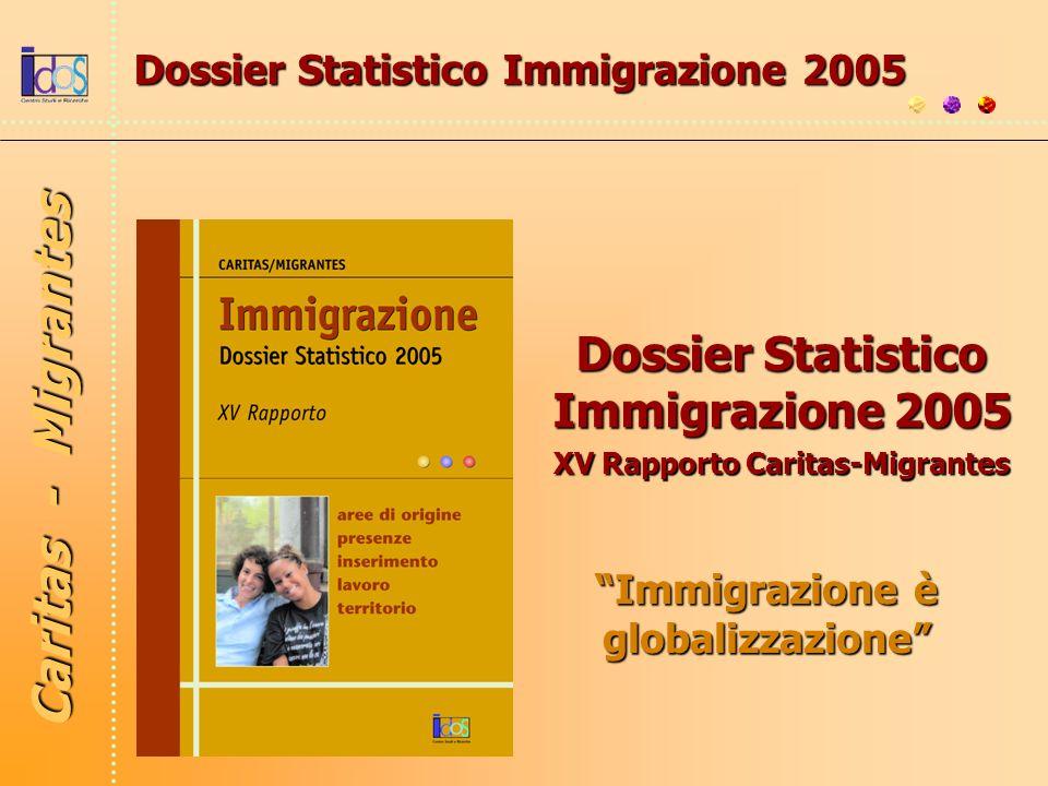 Immigrazione è globalizzazione Dossier Statistico Immigrazione 2005 XV Rapporto Caritas-Migrantes Caritas - Migrantes Dossier Statistico Immigrazione