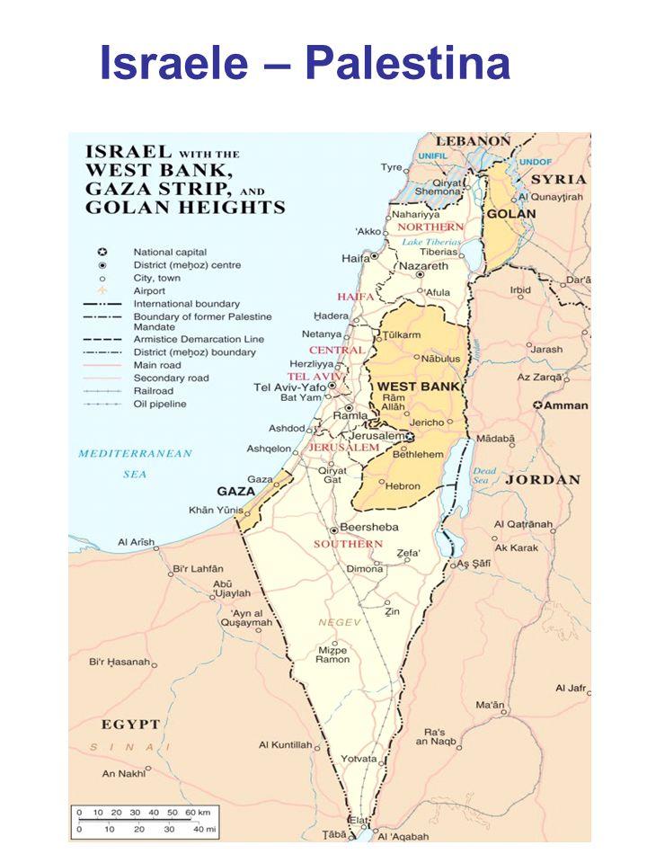 L epilogo... L evoluzione della geografia palestinese e israeliana