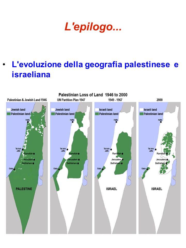 L'epilogo... L'evoluzione della geografia palestinese e israeliana