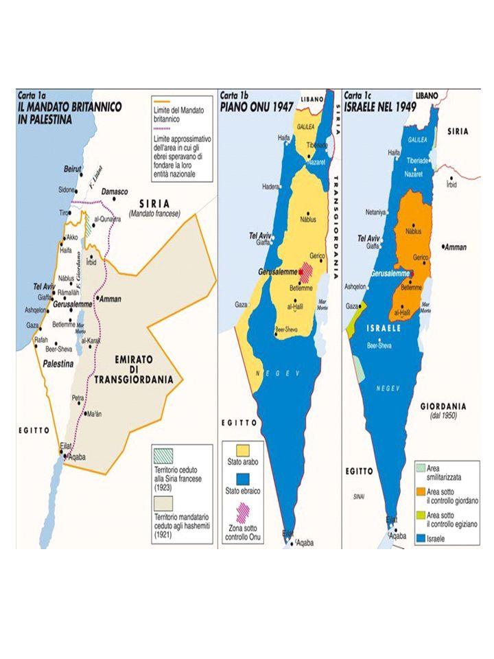 La guerra dei 6 giorni - 1967 Di fondamentale importanza per l esito del conflitto israelo- palestinese sarà la guerra dei 6 giorni La guerra, condotta da Israele in senso preventivo (in assenza di legittima difesa) fu combattuta da Israele contro Egitto, Siria e Giordania.