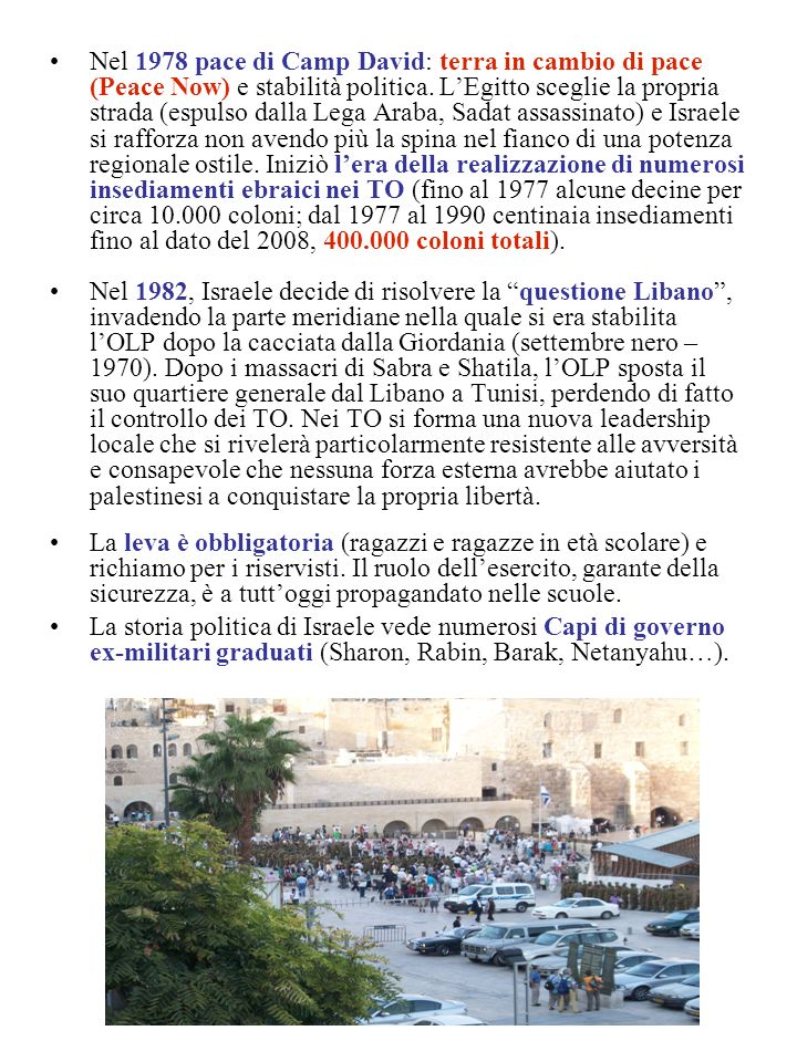 La seconda Intifada (Intifadah di Al-Aqsa) Nel 2000 Sharon pose fine al processo di pace visitando il monte del Tempio o spianata delle moschee.