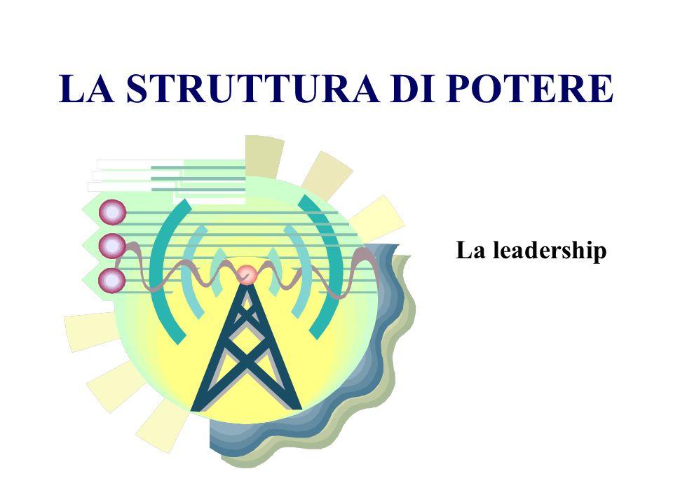 LA STRUTTURA DI POTERE La leadership