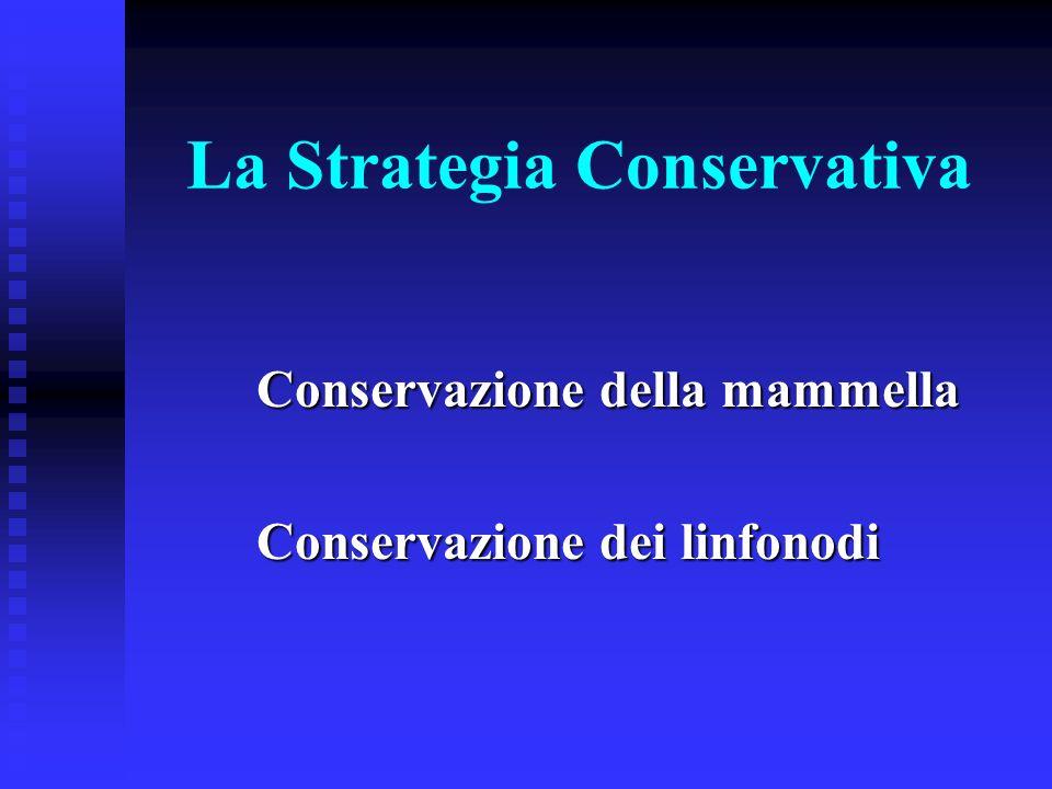 La Strategia Conservativa Conservazione della mammella Conservazione dei linfonodi