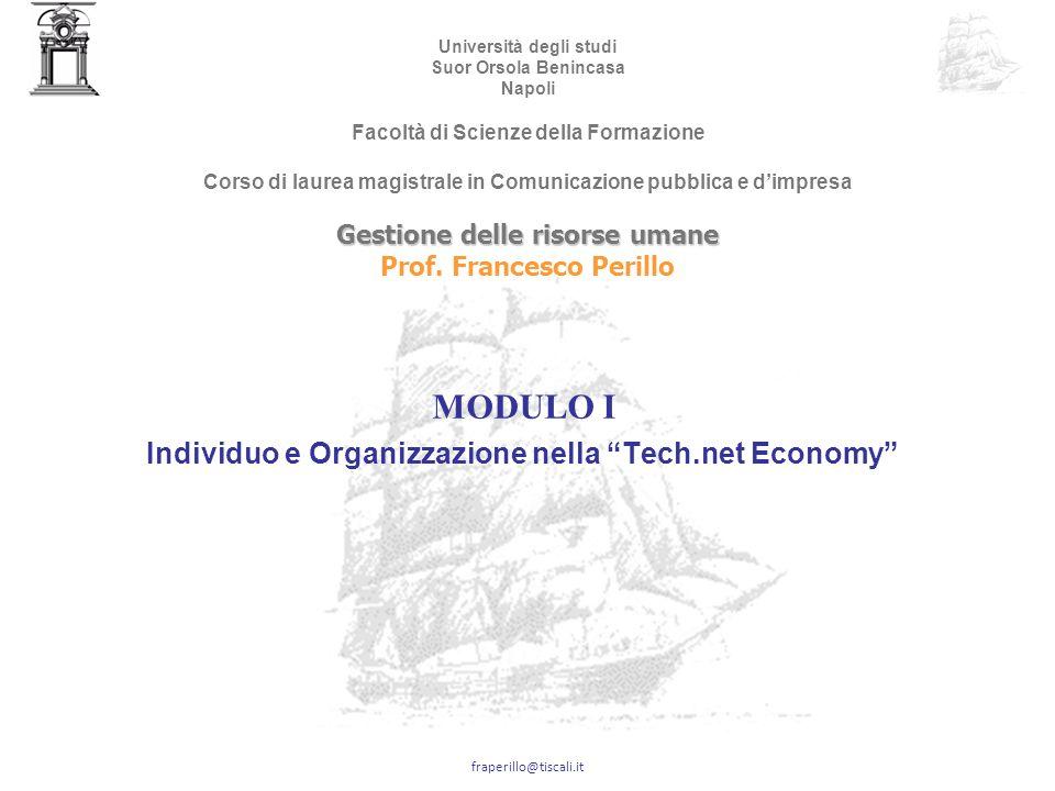 fraperillo@tiscali.it Come si formano le competenze distintive: il modello di Nonaka SOCIALIZZAZIONE ESTERIORIZZAZIONE INTERNALIZZAZIONECOMBINAZIONE Fonte: Nonaka e Takeuchi, 1995 * Prof.
