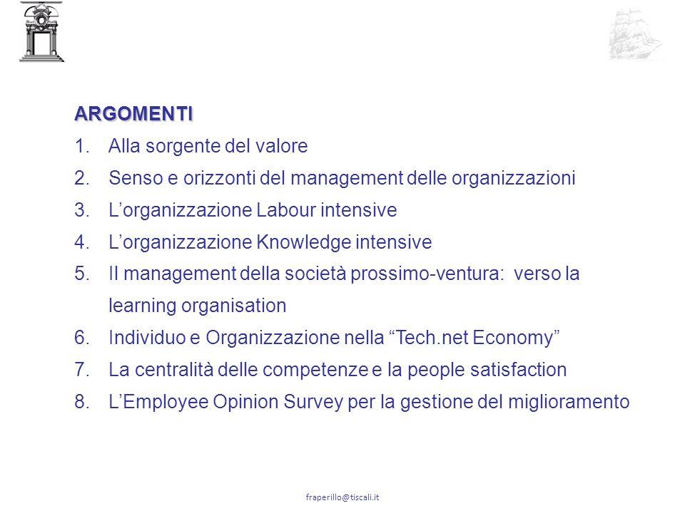 fraperillo@tiscali.it N ellorganizzazione Labour Intensive il sistema incorpora la conoscenza e rende produttiva la forza lavoro.