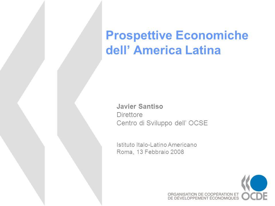 Le economie emergenti sono sempre più rilevanti nella scena globale Fonte: Centro di Sviluppo OCSE.