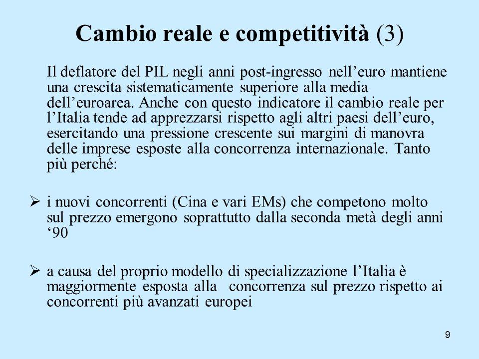 20 Altri lavori sul pattern di specializzazione dellItalia, basandosi su indici di capitale umano definiti come intensità di manodopera operai vs.