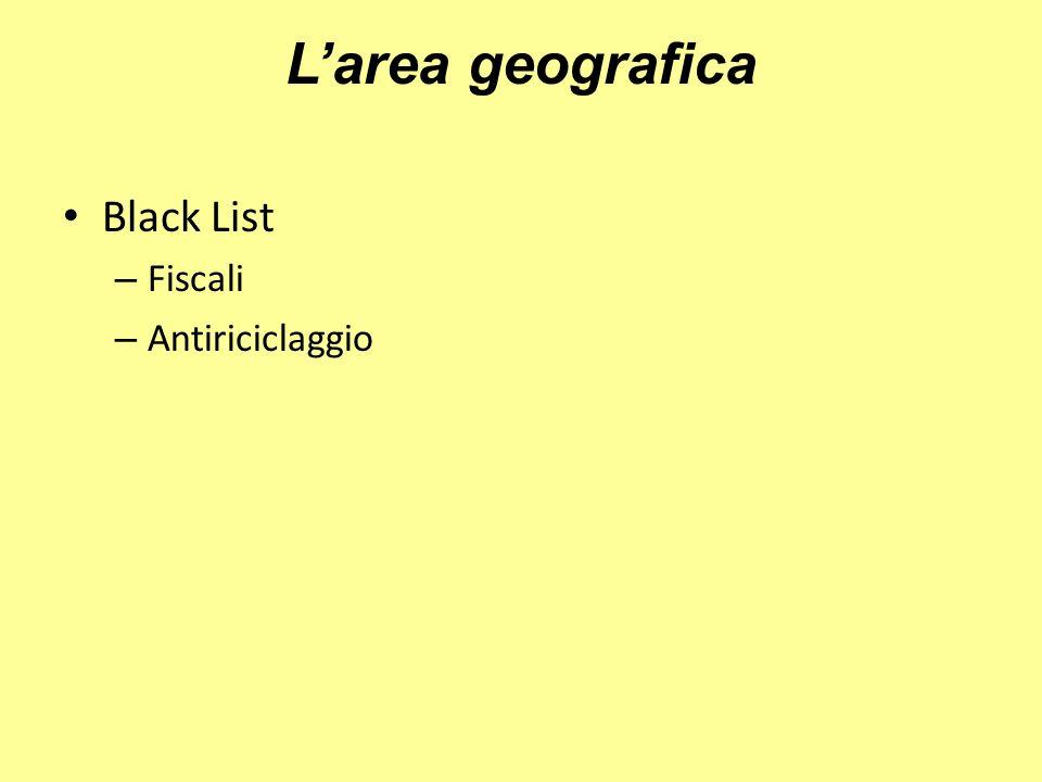 Larea geografica Black List – Fiscali – Antiriciclaggio