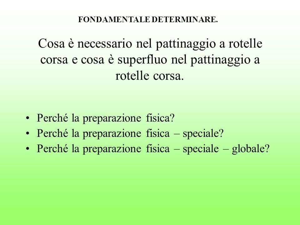 Velocità dellesercizio di gara.