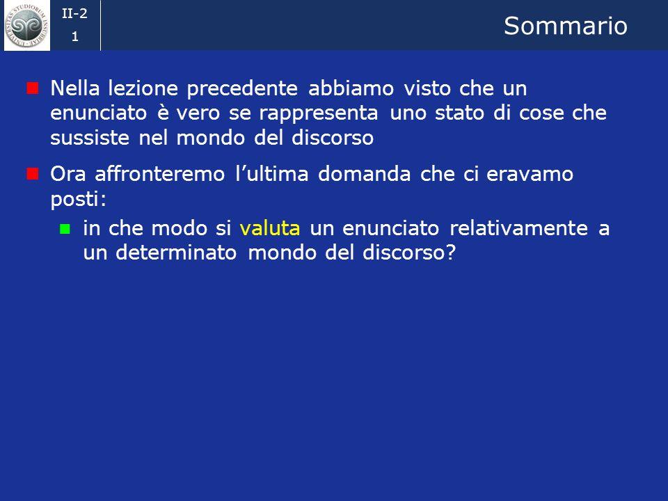 Ingegneria della conoscenza 2008-09 Emanuele Della Valle Scienze e Tecniche Della Comunicazione 2. La valutazione di un enunciato Credits: Prof. Marco