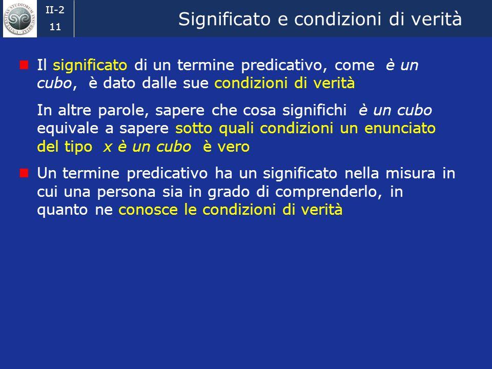 II-2 10 Referente Il referente del termine referenziale A nel disegno è facilmente identificabile Nel mondo reale le cose non sono così semplici, perc