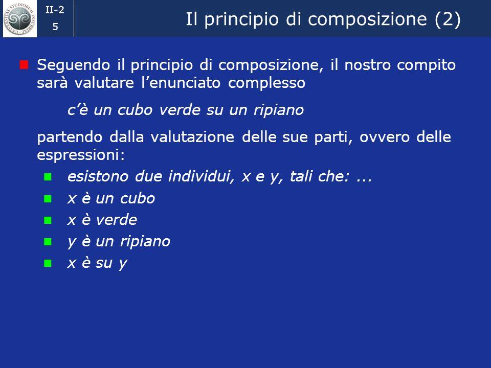 II-2 4 Il principio di composizione Per la valutazione dellenunciato seguiremo il principio di composizione, formulato per la prima volta in modo espl