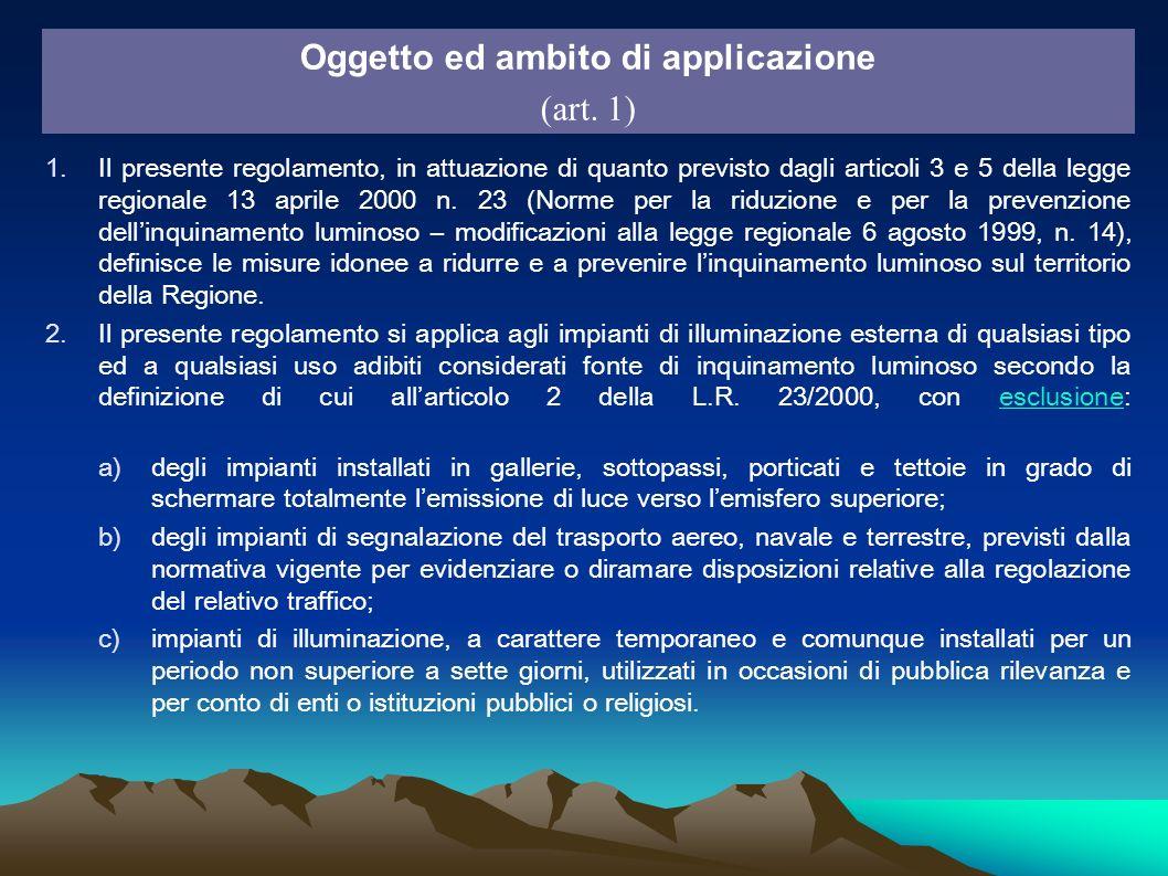 1.Il presente regolamento, in attuazione di quanto previsto dagli articoli 3 e 5 della legge regionale 13 aprile 2000 n. 23 (Norme per la riduzione e