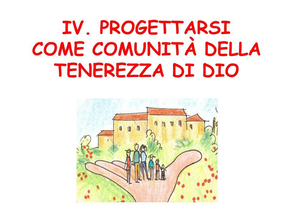 IV. PROGETTARSI COME COMUNITÀ DELLA TENEREZZA DI DIO